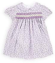 Isabel Garreton Infants' Smocked Floral Cotton Dress With Bloomers & Tights - Purple