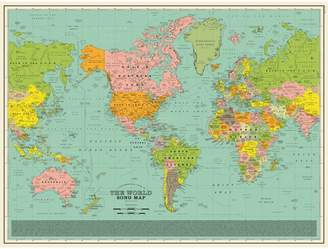Art 60 x 80cm Classic Edition Song Map Print by Dorothy