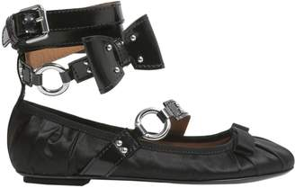 Moschino Ballerina Flats With Patent Leather Strap