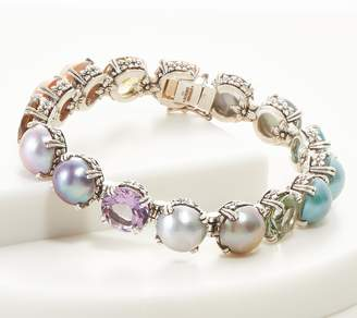 Stephen Dweck Sterling Rainbow Gemstone Bracelet