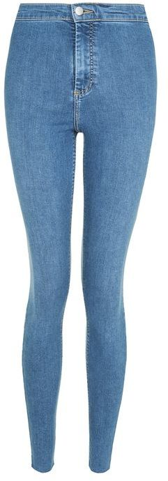TopshopTopshop Moto blue raw hem joni jeans