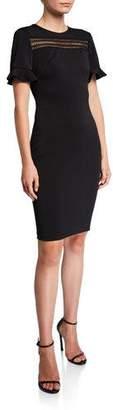 Ted Baker Livsia Short-Sleeve Lace Panel Pencil Dress