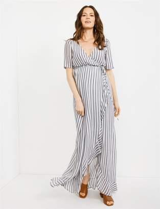 18b6513491f71 Rachel Pally Empire Wrap Maternity Maxi Dress