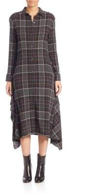 Public School Alice Plaid Shirtdress