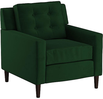 One Kings Lane Winston Club Chair - Emerald Velvet
