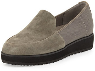 Eileen Fisher Dell Suede Slip-On Loafer $225 thestylecure.com