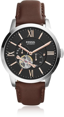 Fossil Townsman Automatic Brown Leather Men's Watch