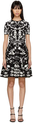 Alexander McQueen Black and White Botanical Spine Dress