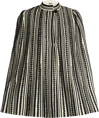 ALEXANDER MCQUEEN Embroidered wool-blend cape $1,977 thestylecure.com