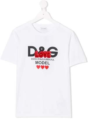 Dolce & Gabbana short sleeve logo T-shirt
