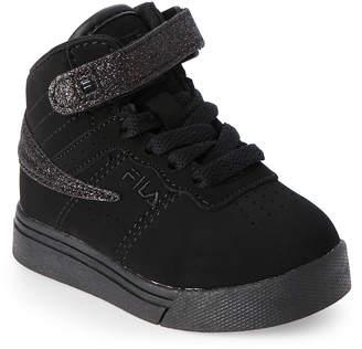 Fila Toddler Girls) Black Vulc 13 Glitter Blast Strap Sneakers 5546-2030
