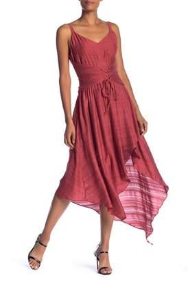 BCBGMAXAZRIA Corset Lace-Up Asymmetrical Dress