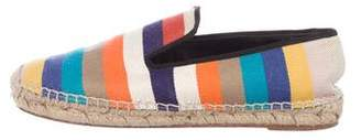 Celine Striped Canvas Espadrille Flats