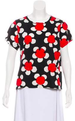 Marc Jacobs Floral Print Short Sleeve Shirt w/ Tags