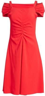 Emporio Armani Off-The-Shoulder A-Line Dress