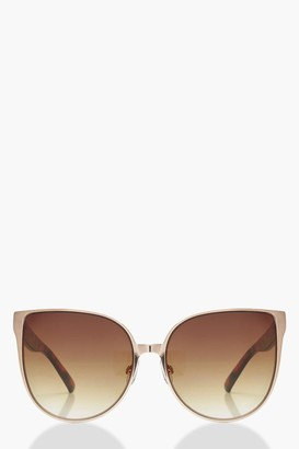 boohoo Tortoiseshell Arm Oversized Sunglasses
