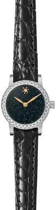 Shinola Gomelsky by Women's Agnes Varis 20mm Diamond Genuine Alligator Strap Watch - 0.25 ctw