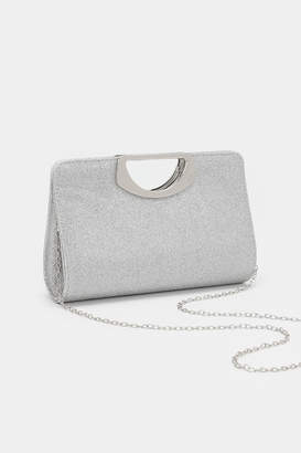 Ardene Glitter Cut-Out Handle Clutch