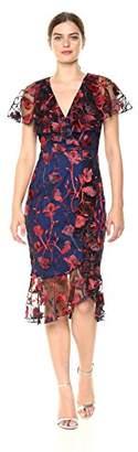 Jax Women's Embroidered Flutter Sleeve Dress
