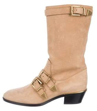 Chloé Leather Pointed-Toe Boots