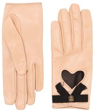 Gucci Leather Gloves W/ Bow & Cat Detail