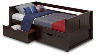 Camaflexi Twin Size Day Bed with Drawers - Panel Headboard - Cappuccino Finish