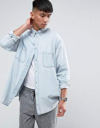 Cheap Monday Conduct Denim Shirt Pale Blue