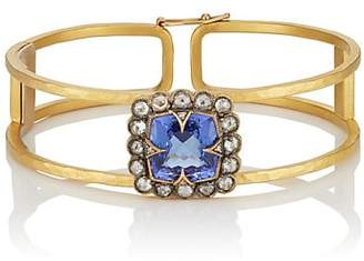 Cathy Waterman Women's Tanzanite & White Diamond Cage Bangle - Gold