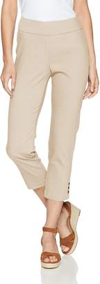 Haggar Women's Pull-On Capri with Side Snaps Pants