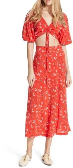 Danni Jane Print Crop Top & Skirt