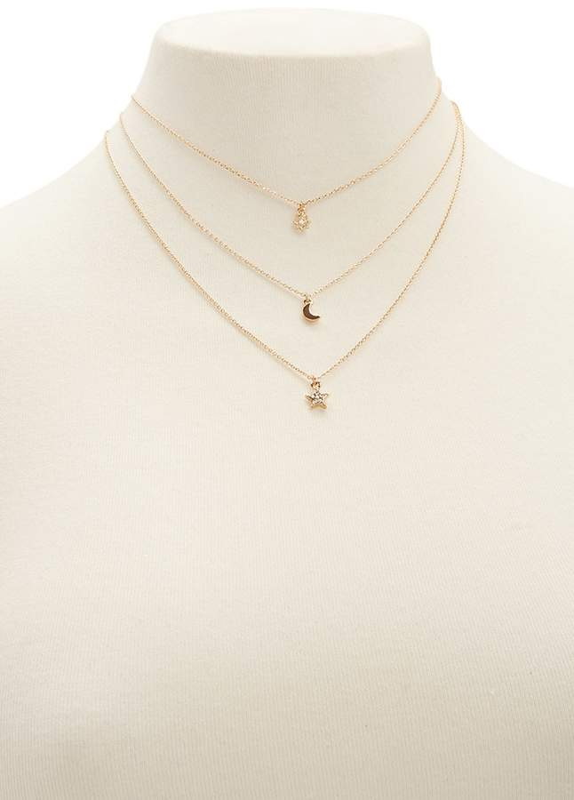 FOREVER 21 Layered Pendant Necklace
