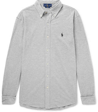 Polo Ralph Lauren Button-Down Collar Cotton-Piqué Shirt