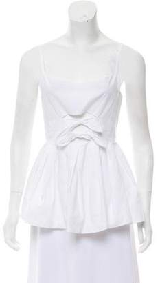 DELPOZO Poplin Sleeveless Top