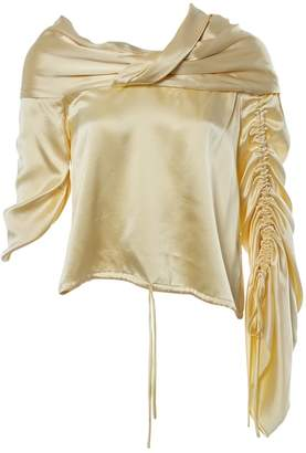 Hellessy Yellow Silk Tops