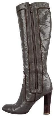 Stella McCartney Vegan Patent Leather Knee-High Boots