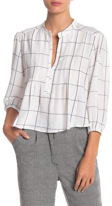 Bishop + Young Windowpane Crop Blouse
