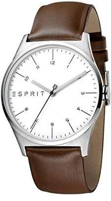 Esprit Mens Analogue Quartz Watch with Leather Strap ES1G034L0015