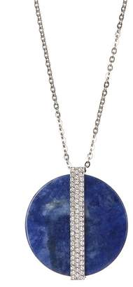 Swarovski Swarovskiy Crystal Accented Large Disc Pendant Necklace