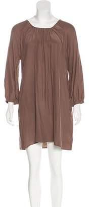 Nili Lotan Long Sleeve Mini Shift Dress