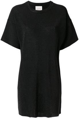 Laneus plain T-shirt dress