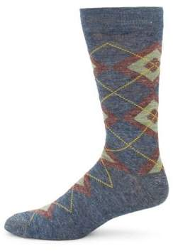 Saks Fifth Avenue Double Argyle Socks