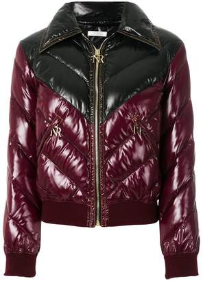Nina Ricci chevron padded jacket