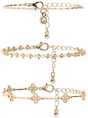 Forever 21 Ornate Chain Bracelet Set