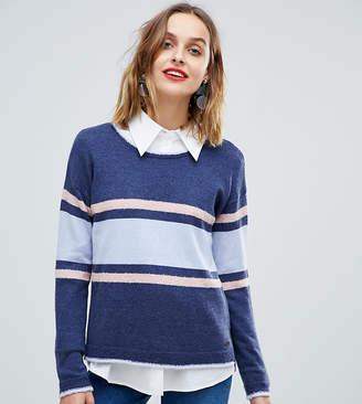 Esprit Colour Block Stripe Round Neck Jumper