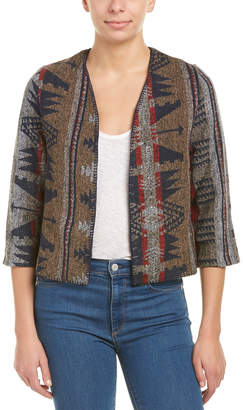 Anama Cozy Woven Cropped Wool-Blend Jacket