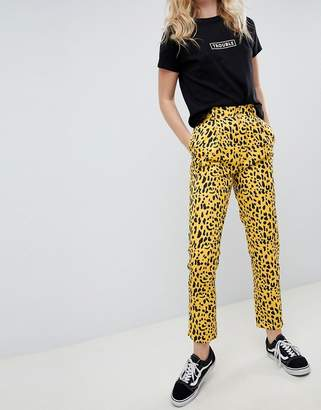 Daisy Street straight leg trousers in animal print