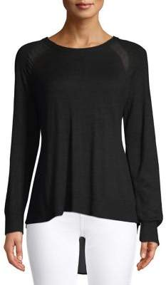 Halston H Asymmetric Long-Sleeve Sweater