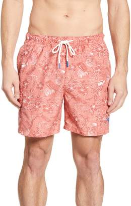 Tommy Bahama Naples Tiki Luau Print Swim Trunks