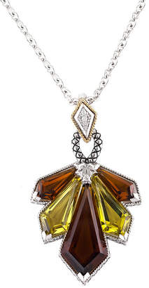 Candela Andrea Ra 18K & Silver 20.12 Ct. Tw. Diamond & Gemstone Necklace