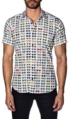 Jared Lang Sunglasses Print Sport Shirt